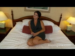 - Brunette milf does her first adult video