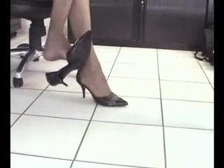 TV - Part 1 - Natasha in Nylon Stockings does Danglin...
