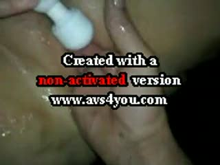 Missionnaire - Another video of Wife squirting using wand and m...