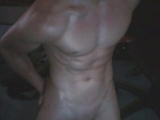 Masturb. masculine - oiled body