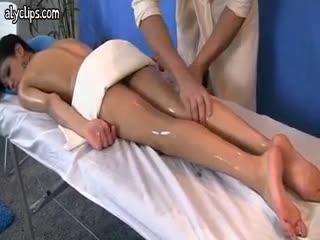 Massage - Babe enjoys hardcore massage and gets facial