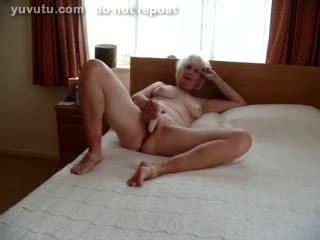 Mature - cum on kay's tit