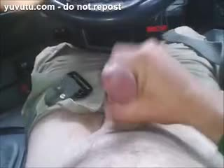 wanking in my truck