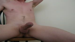 Ejaculation - Cumming on the Chair