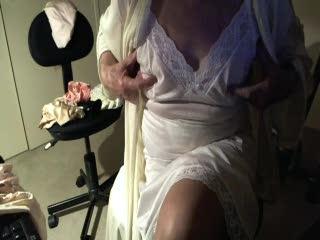 Examination/Posing - feeling my nipples