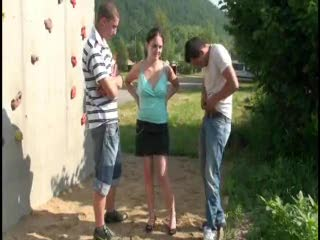 Exhibe - Risky public sex threesome AWESOME