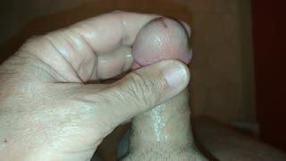 Male Masturbation - Making my 5 inch cock squirt!!