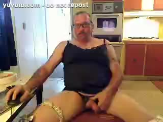 - CrossDresser in lingerie jerks off and cums hard