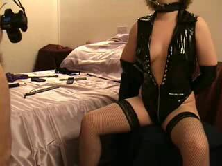 BDSM - mrs snd\'s tits and nips get a light whippi...