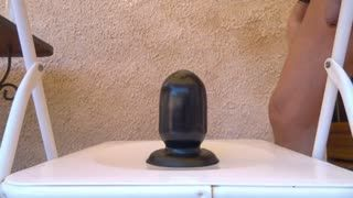 Dildo - big black plug