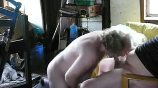 Blow Job - Me Sucking Cock in the Shed