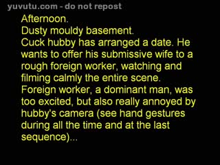 Cuckold - Cuck hubby offers wife to foreign worker