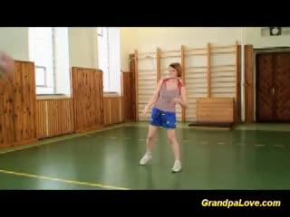 Mature - Grandpa fucking her student