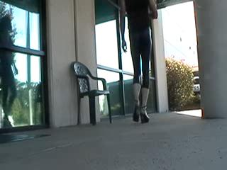 Flashing/Public - More Latex tights!