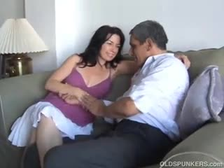 Japanese girl white guy cum
