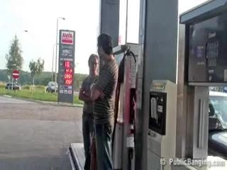 Exhibe - Public sex extreme gas station threesome