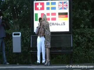 Voyeur - Public sex gorgeous blond at a train station