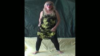 - Blonde dances in crotchless leggins no panties