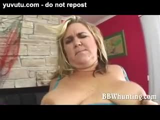 BBW/Chubby - Blonde BBW is a real expert