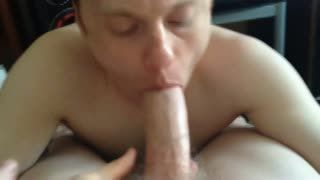Blow Job - POV homemade gay video. I'm sucking my friend co...