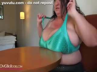 Big Tits - Sabrina Meloni 2014 debut - Big boobs BBW table