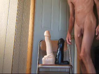 Bizarre - Double Fucked and Fisted By Massive Cock Dildos