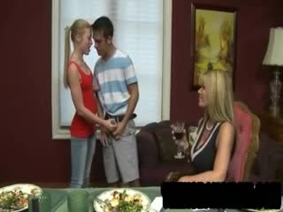 Mature - Lusty blonde MILF Kristal Summers and her cute s...