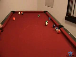 Female Masturbation - Naughty On The Pool Table