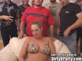 Gang Bang - Blonde Big Ole Titty Brianna's Dirty Dozen Tampa...
