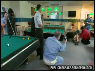 Pool hall gang bang