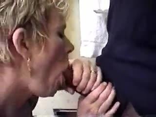 Interracial - Older blonde sucks and fucks her black lover at ...