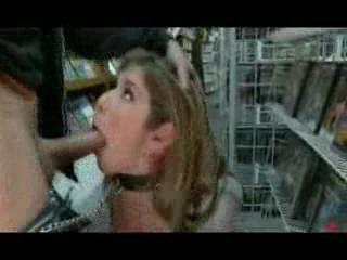 Bizzare - Blonde MILF Public Sex in Book Store