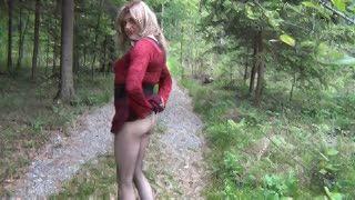 Cum Shot - Von einem Fremden im Wald abgewixt