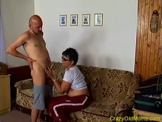 Mature - Nasty old mom gets fucked hard