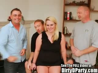 Gang Bang - Barely Legal Squirting Blonde Southern Bell Gang...