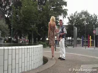 Exhibe - Extreme public sex by fountain