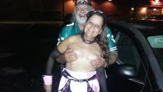 - Halloween boob grab
