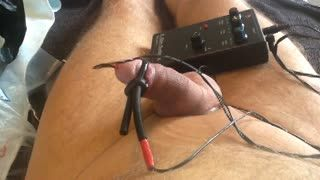 - Two power leads on my cock