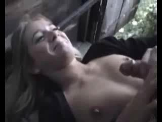 Cum Shot - A little facial in the forrest-----By stranger