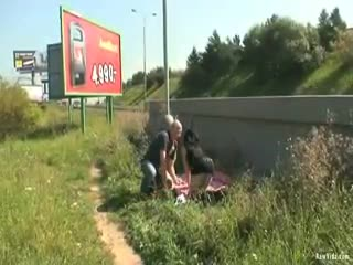 - Naughty Couple Public Sex Roadside