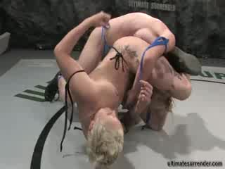 Tattooed Chicks Fighting to Be on Top