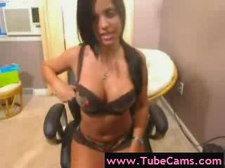 Webcam - captivating webcam latina dildo play drunk web c...