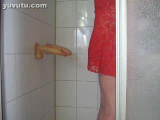 Dildo me in Shower