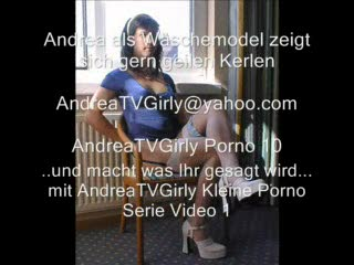 Male Masturbation - Andrea a TV lingerie model fucked in front of gu...