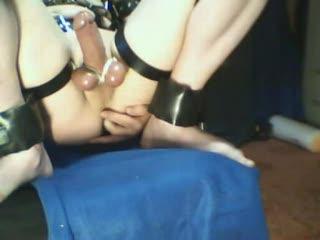 BDSM - lederkorsett cum anal dildo teil2