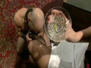 BDSM - Gorgeous sexy brunette prooves to be a nasty dom...