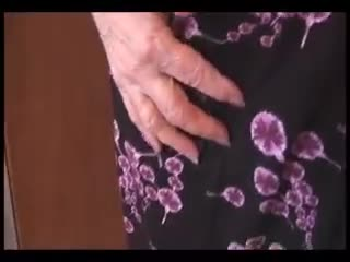 Mature - Attractive busty granny and teases then shows of...