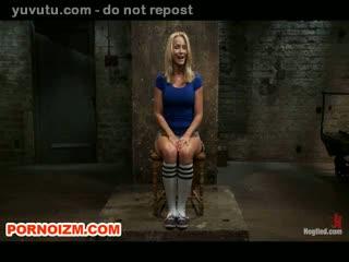Hogtied Lesbian Slave Simone in Bondage