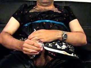 Male Masturbation - Satin and Electro Stim
